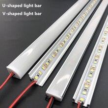Barre lumineuse rigide en aluminium LED DC12V 50CM 20 pouces U/v-forme 5730 36LED s LED canal en aluminium décoration de la maison éclairage