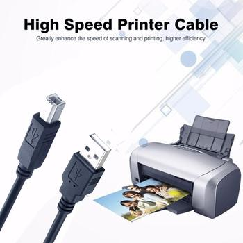 USB 2.0 Print Cable USB 2.0 Type A Male To B Male Sync USB Canon Printer Cable 1.5/3/5m For HP Data Scanner Printer Epson T1F2