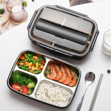 Stainless Steel Thermal Lunch Box Containers with Compartments Leakproof Bento Box Food Container Picnic Office School Lunchbox(China)