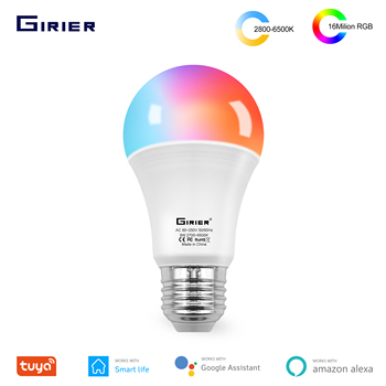 Tuya Wifi Smart Light Bulb E27 Led RGB Colorful Changing Dimmable Light Bulb Work with Alexa Google Home No Hub Required 12W 15W 1