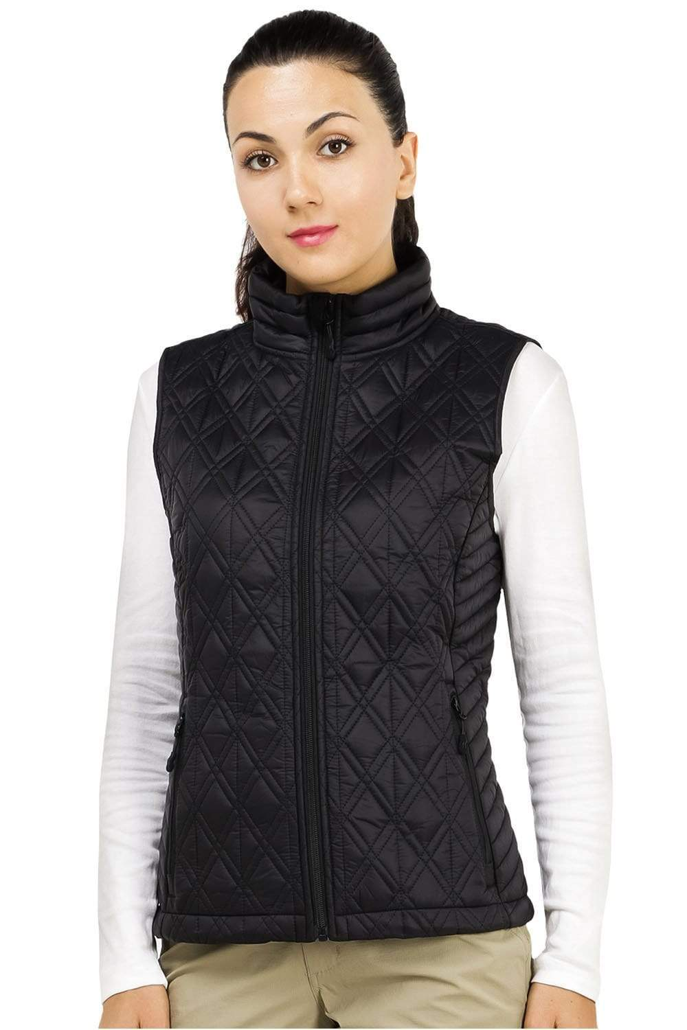 MIER Women's Quilted Vest Padding Lightweight Insulated Puffer Vest With Pockets