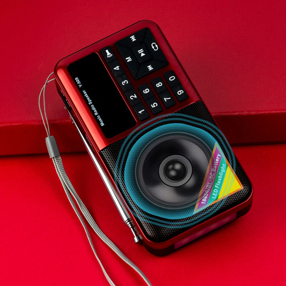 Portable Radio for Elder Multi Functional Media Speaker MP3 Music Player PUO88