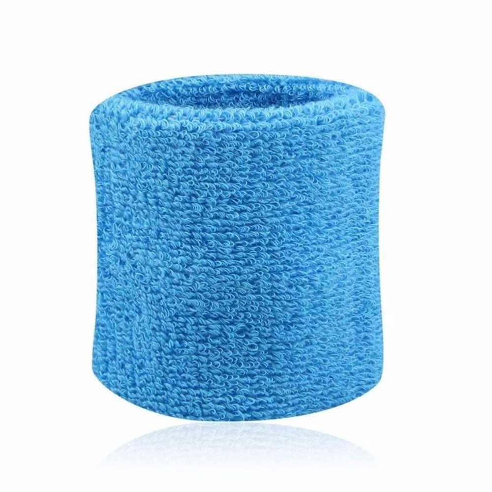 1 PCS Unisex Kapas Gelang Terry Kain Katun Pita Penahan Keringat Olahraga Tenis Pergelangan Tangan Yoga Sport Keringat Pergelangan Tangan Band Terbaru 8x8cm