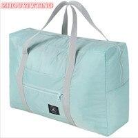 Unisex Nylon Faltbare Reisetasche Wasserdichte Große Kapazität Tasche Für Frauen Gepäck Klapp Duffle Handtaschen Organizer Verpackung Würfel