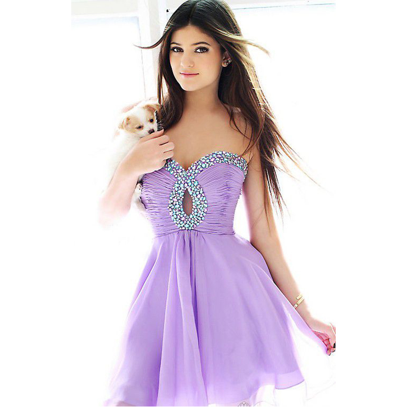 Free Shipping 2016 Homecoming Dresses Short Mini Sweetheart Beading Pleated Chiffon Off The Shoulder Party Prom Dresses
