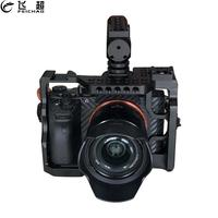Camera Cage for Sony A73 A7M3 A7R3 A7III DSLR SLR Stand Extension with Top Handle Grip Hot shoe to Microphone Monitor LED