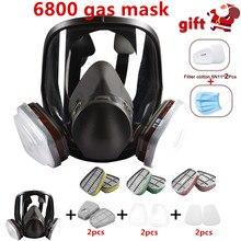 3 arayüzü gaz maskesi filtre pamuk ve kutu tam yüz yüz maskesi
