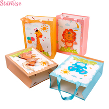 Staraise Jungle Party Gift Box Wrapping Supplies Happy Birthday Decoration Candy Bags Boy Safari Animal