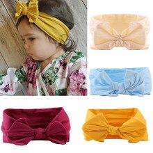 Diadema de nailon de 21 colores para niña, turbante anudado a la moda, accesorios para el cabello para bebé