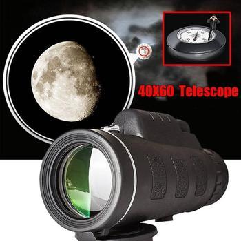 Smartphone 40 #215 60 High-Power Dual-Tuning teleskop wojskowy teleskop monokularowy Camping teleskop z powiększeniem HD ze statywem do polowania tanie i dobre opinie CN (pochodzenie) Zoom len Monocular Plastic 15 * 5 2 * 4 2cm 40 Times 60mm 22mm 1500 9500m