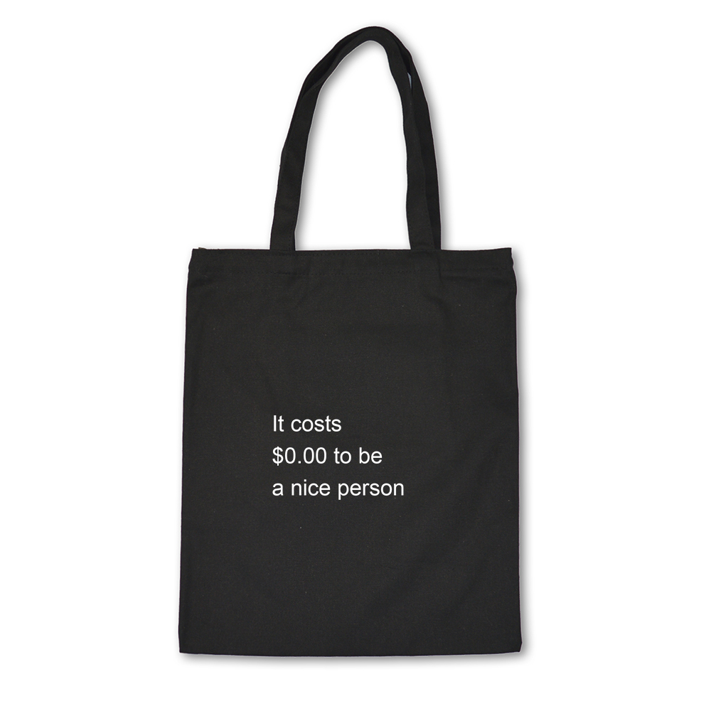 To Be A Nice Man Print Ladies Handbags Cloth Canvas Tote Bag Cotton Shopping Women Eco Reusable Shoulder Shopper Bags Letter
