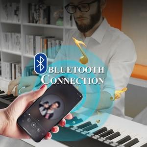 Image 3 - 88鍵ピアノポータブルデジタル電子コントローラピアノの鍵盤タッチ敏感ミディ/usb電気ピアノとキャリーバッグ