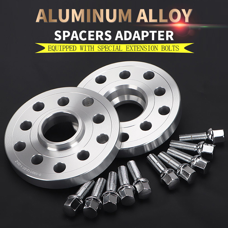 Wheel Spacers 20mm 2 Spacer Kit 5x100 57.1 +OE Bolts For VW Polo Mk5 09-17
