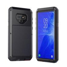 Heavy Duty אלומיניום סגסוגת מתכת מקרה טלפון עבור Samsung Galaxy S5 S6 e 7 8 9 10 e בתוספת הערה 3 4 5 8 9 10 עמיד הלם אנטי נופל