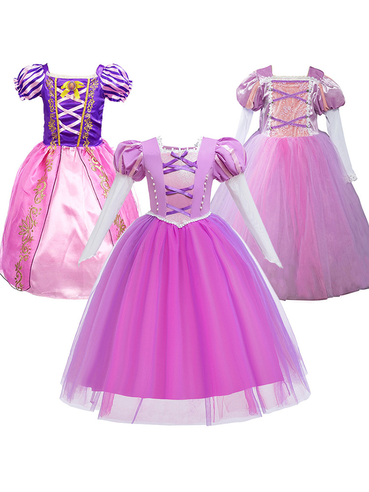 WOCACHI Toddler Baby Girls Dresses Children Kids Girl Long Sleeved Cartoon Animal Gauze Princess Tutu Dress