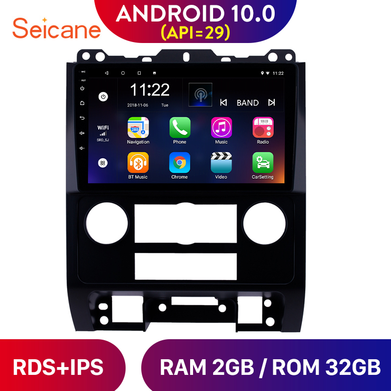 Seicane 9 inch Android 10.0 Car <font><b>GPS</b></font> Navi Radio for <font><b>Ford</b></font> <font><b>Escape</b></font> 2007-2012 Multimedia Player support Carplay TPMS OBD2 DAB+ RDS image