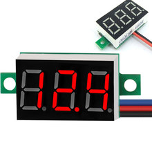 DC 12V Digital LED Display Voltmeter Voltage Meter Gauge Detector Tester Monitor Panel 0.36 inch 3 Wire DC 0-100V Volt Meter(China)
