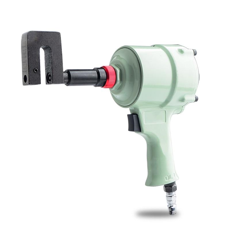 Powerful Pneumatic Puncher Metal Ss Advertising Luminous Word Air Eyelet Tool Hole Punching Machine Perforation 3mm-8mm