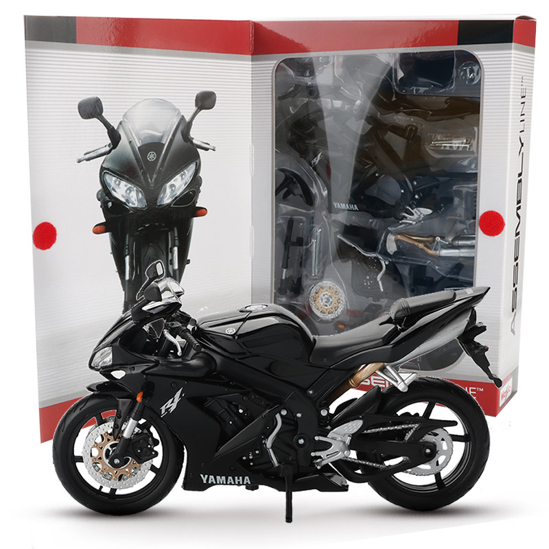 Maisto 1:12 diy alloy motorcycle model toy assembly motorbike building kits yamaha r1 racing car models educational toys for children