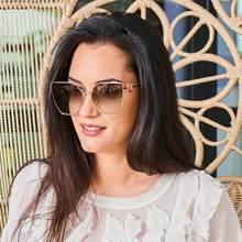 Eoome 2020 luxo feminino designer óculos de sol oversize quadrado forma borboleta nova oчoculooculoas de sol feminino lente uv com caso