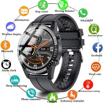 Смарт-часы Полный сенсорный круглый Экран работы при прослушивании музыки по Bluetooth шагомер часы спортивные трекер Для мужчин напоминание SmartWatch, поддерживает телефон
