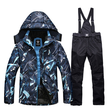 Winter New Ski Suit For Men Outdoor Windproof Waterproof Thermal Male  Skiing And Snowboarding Ski Jacket + Snow Pants 2PCS Sets trvlwego outdoor ski suit men s windproof waterproof thermal snowboard snow skiing jacket and pants sets winter sports clothes