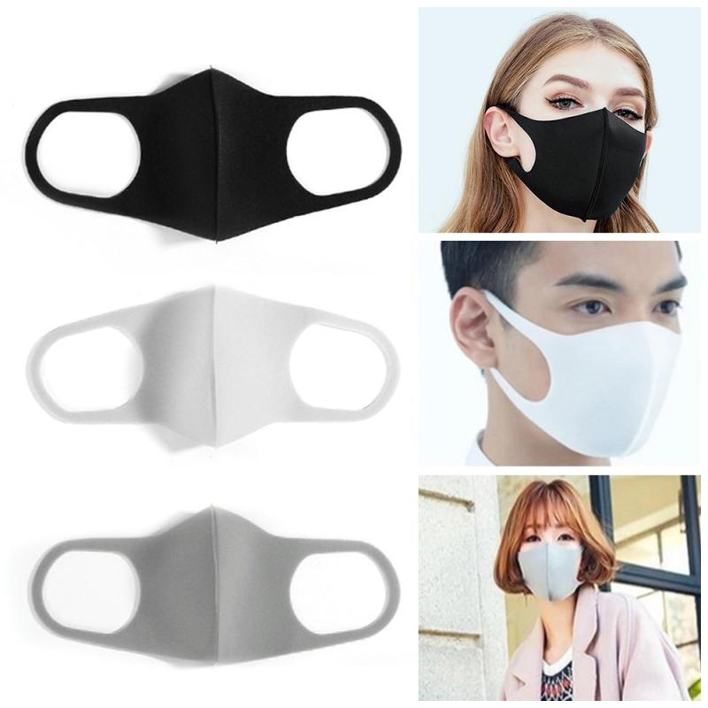 3PCS Sponge Dustproof Mouth Face Mask Anti Haze Mask Antibacterial Anti-fog Pollution Masks Cycling Face Mask For Adult Kids