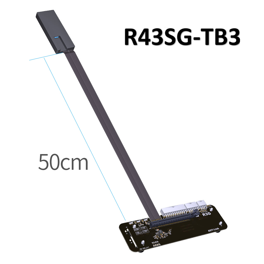 R43SG-TB3 PCIe X16 PCI-e X16 To TB3 Extension Cable PCI-Express Cables EGPU Adapter External Graphics Card Stand Bracket For PC