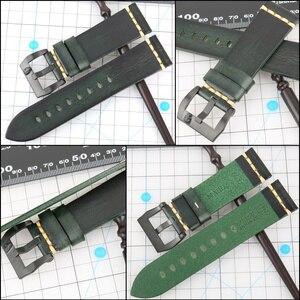 Image 4 - Maikes時計アクセサリー本革時計バンド 20 ミリメートル 22 ミリメートルギアs3 交換 18 ミリメートルパンク腕時計ストラップブレスレット