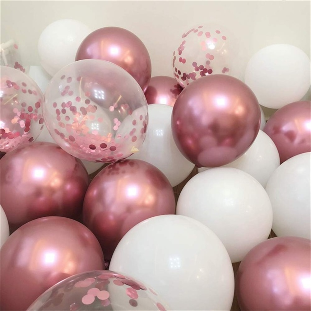 18pcs 10inch Multicolor Latex Balloons Matte Helium Globos For Wedding Decoration 18