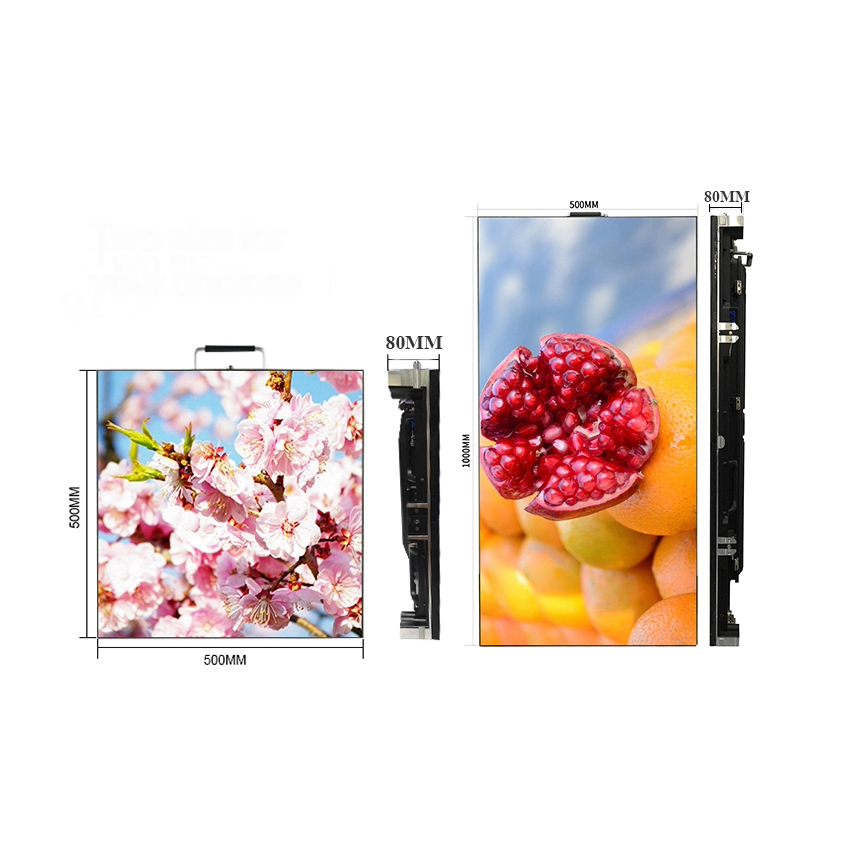 Outdoor SMD P3.91 HD 128x128dots 500x500mm Cabinet Rental Full Color LED Display For Advertising Billboard Screen