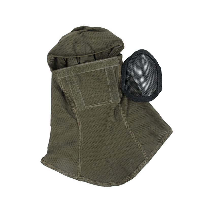 H23449e9e73b544828783310ad9d7b15bI TMC3267 CS Tactical Camo Head Cover Metal Mesh Balaclava Full FaceMask Sunscreen Dust-proof Full-wrapped Headscarf Free Shipping