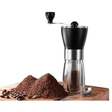 Ręczne młynki do kawy ze stali nierdzewnej ceramiczne Burr Mill zmywalny przenośny ekspres do kawy ręczne młynki do ziarna kawy kuchnia tanie tanio CN (pochodzenie) STAINLESS STEEL Zmywalna MCG01210106 Stainless steel ABS Ceramic Adjustable Detachable Washable Portable Coffee Grinder