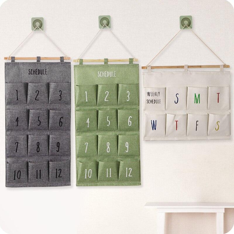 8   12 grids Cloth  Closet Storage Pouch behind door wall mounted storage bag Hanging organizer for Socks Bra Underwear|organizer diaries|organizer|organizer bag travel - title=