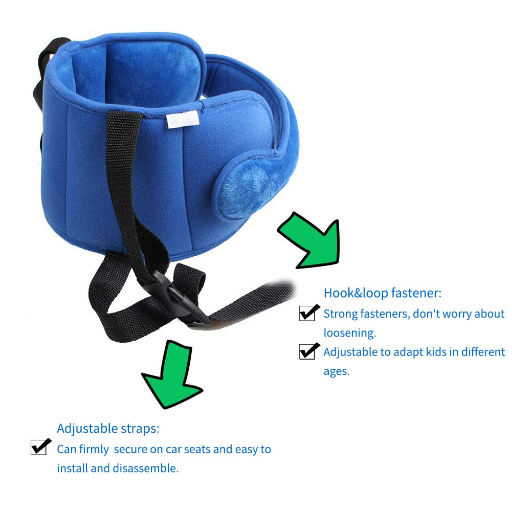 Walla וואלה Adjustable Toddler Car Seat Head Support Band