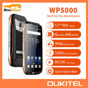 Image 1 - OUKITEL WP5000 5.7 Cal Smartphone IP68 wodoodporna Android 7.1 telefon komórkowy Helio P25 Octa Core 6GB 64GB ROM 5200mAh telefon komórkowy