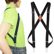 High Quality Classic Suspensorio Masculino 2 Big Hook Clips Underpants Suspender Work Suspenders For Men