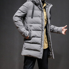 Anbican 2019 New Mens Winter Long Jacket Hooded Warm Parka Coat Men Thick Parkas