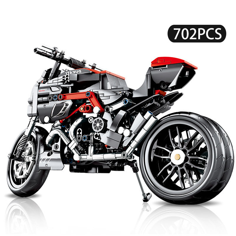 702pcs Technic Motorcycle Compatible Legoing Model Car Creator Expert Building Blocks City Toys For Children Boys Classic Bricks