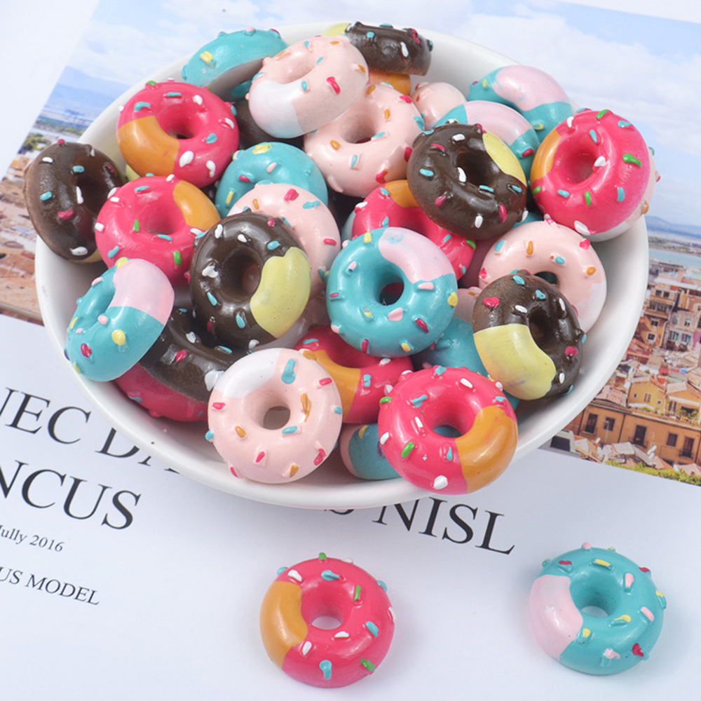 Donut Charms For Slime Addition DIY Toys Modeling Clay Supplies For Childern Slimes Accessories Polymer Filler Slime Decor Kit
