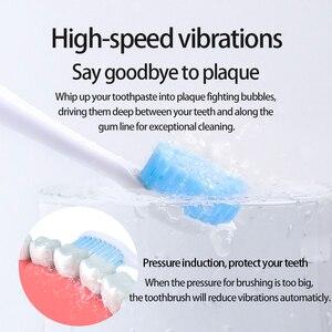 Image 3 - UBALUN השעיה מגנטי מברשת שיניים חשמליות סוניק מברשת שיניים נטענות אולטרסאונד שן מברשת 5 8 קבצים מצורפים