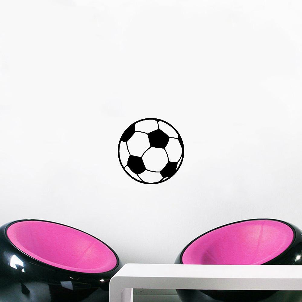 Футбольное Имя Наклейка на стену на футбольную тематику для детской комнаты украшение для мальчиков Детская комната Декор виниловая наклейка съемные настенные наклейки
