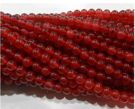 Pierre précieuse rouge rubis rond, 4mm, 2 pièces, 15
