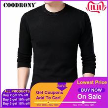 COODRONY Sweater Men Autumn Winter Warm Mens Knitted Wool Sweaters Solid Color Casual O Neck Pull Homme Cotton Pullover Men 7209