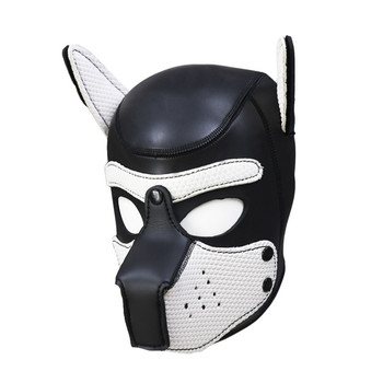 Dog slave adult sex toys rubber detachable dog headgear mask open eye mask SM dog slave sex toys for couples