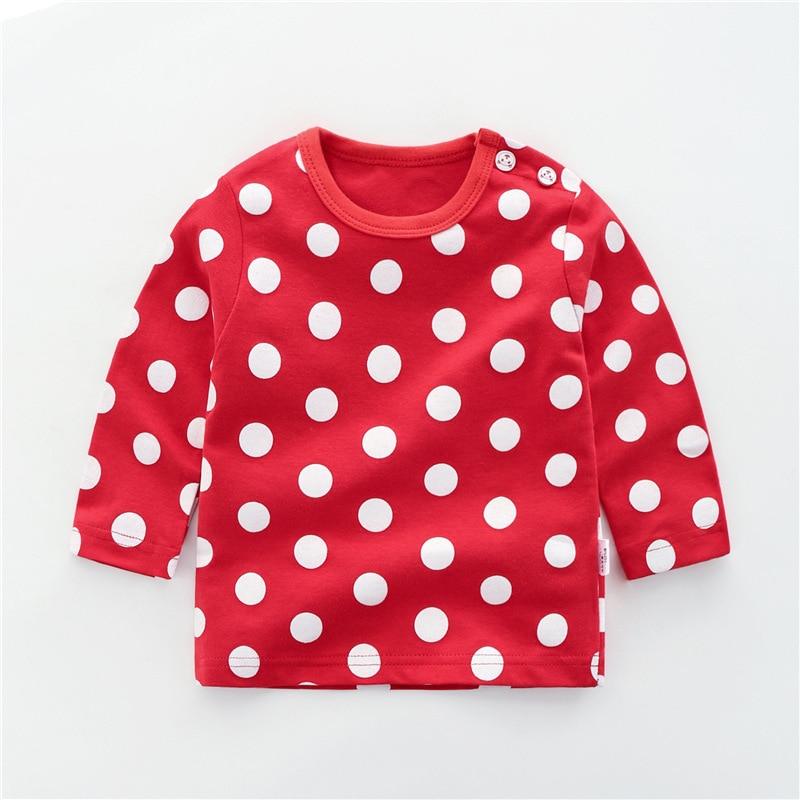 От 6 месяцев до 5 лет унисекс; сезон осень-зима; хлопковая футболка с длинными рукавами и героями мультфильмов; футболки для маленьких мальчиков и девочек; детская повседневная одежда; одежда с круглым вырезом - Цвет: 10
