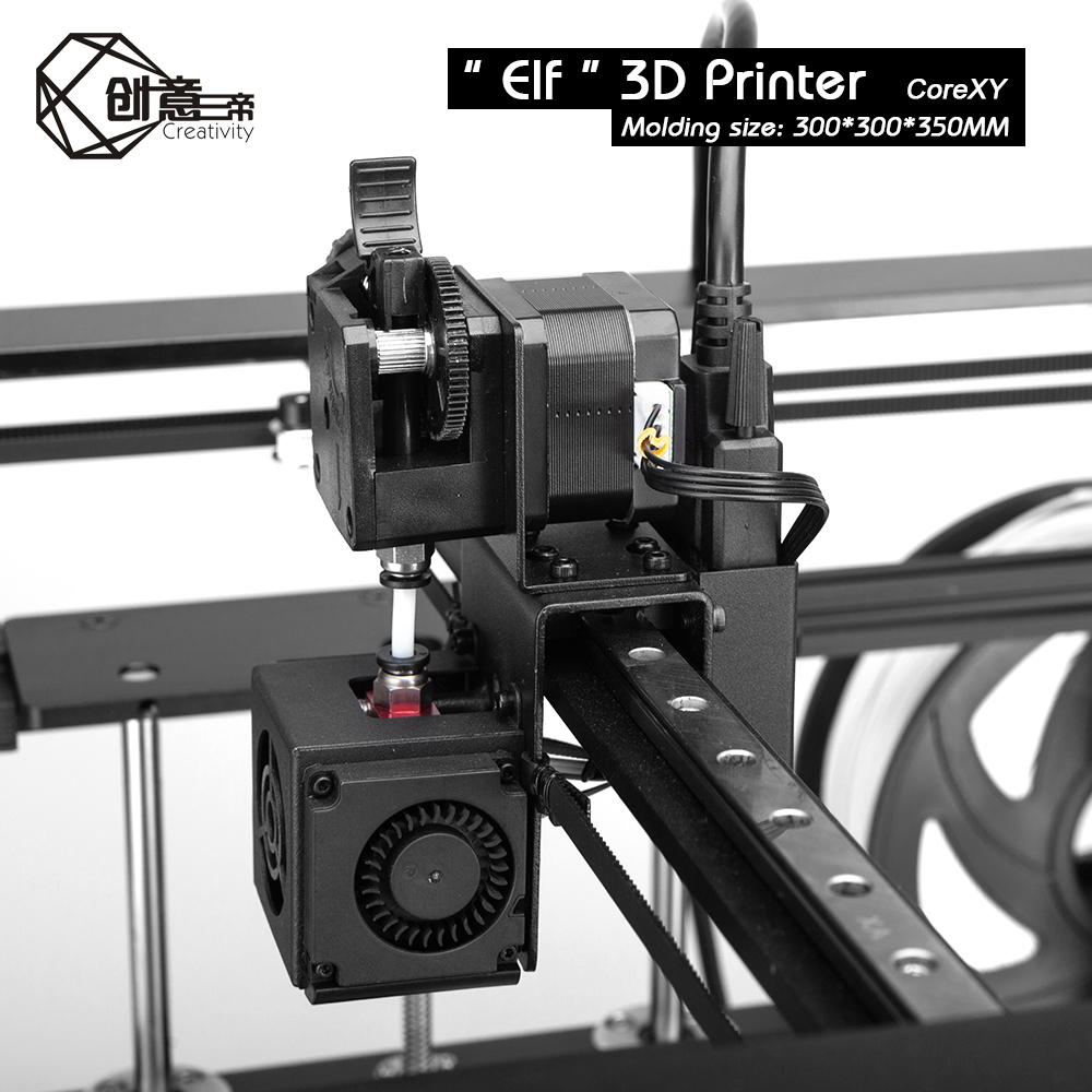 Image 4 - CoreXY Elf Dual Z Axis 3D Printer High Precision Aluminum Profile Frame Large Area FDM Low noise with TMC2208 3dTOUCH3D Printers   -