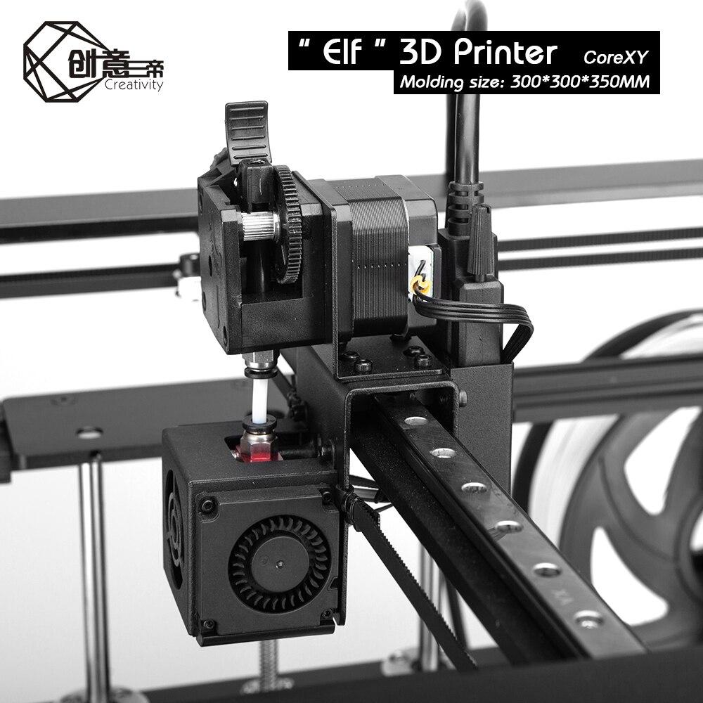 Image 4 - Corexy エルフデュアル z 軸 3D プリンタ高精度アルミプロファイルフレーム大面積 fdm 低ノイズ TMC2208 3 dtouch3D プリンタ   -