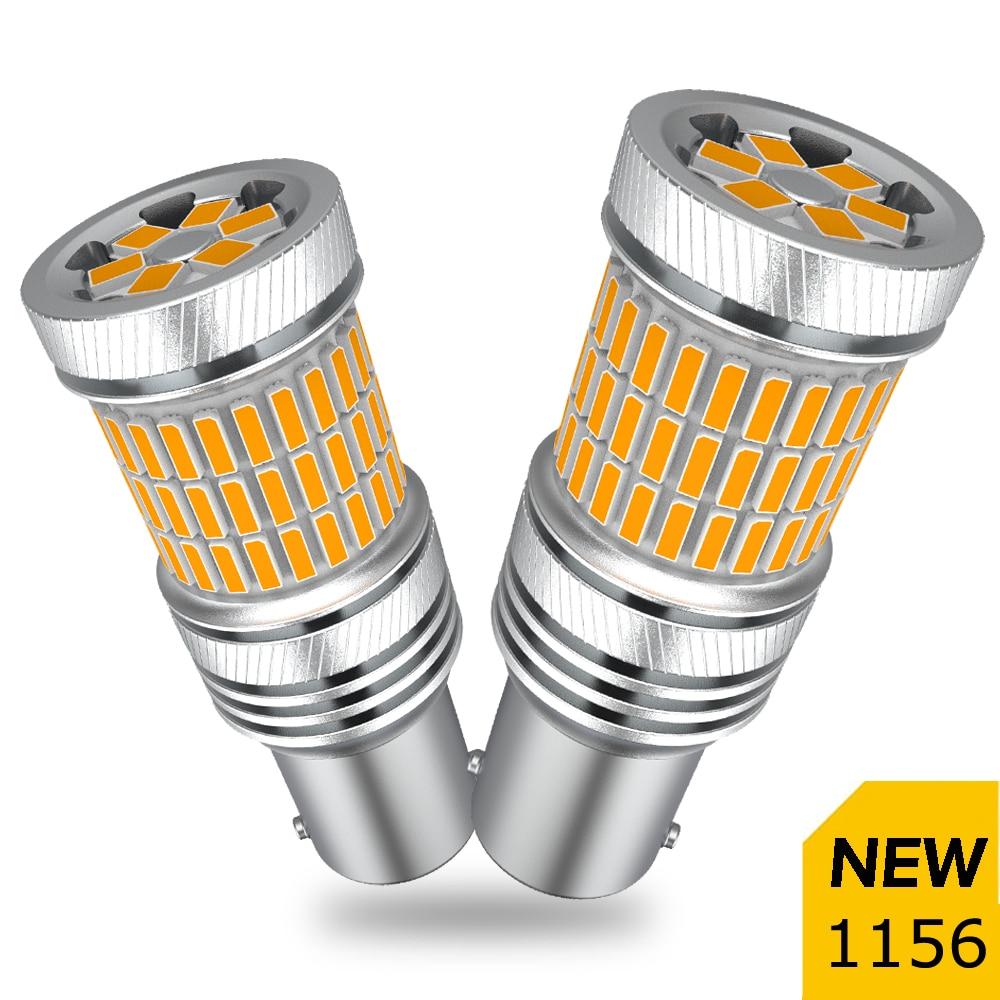 2X Amber Canbus No Hyper Flash 1156 P21W Ba15s LED Turn Signal Light For Bmw e46 e90 f10 e39 e60 e92 e87 e91 e70 e61 e39 x3 e83