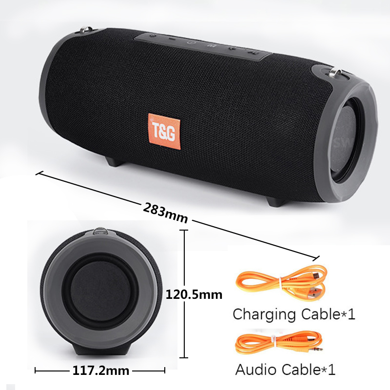 TG118 Really 40W Bluetooth Speaker Portable Column Music Player Sound System Boom Box with FM Radio TF Subwoofer Double 3